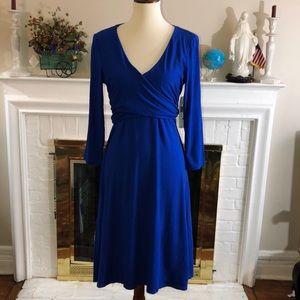 🌻 Lauren Ralph Lauren royal blue stretch dress